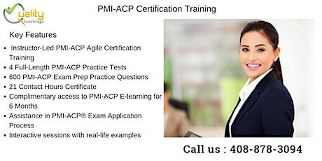 PMI-ACP (PMI Agile Certified Practitioner) Training in Edison tickets