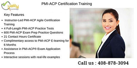 PMI-ACP (PMI Agile Certified Practitioner) Training in  Tucson tickets