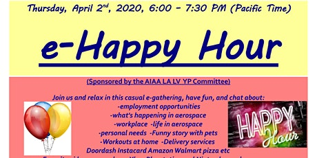 AIAA LA-LV e-Happy Hour April 2, 2020 tickets