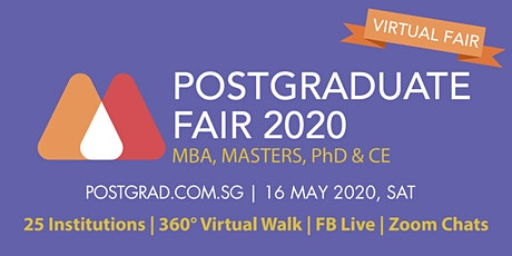 Postgraduate Masterclass Fair 2020 - Virtual - 16 May tickets