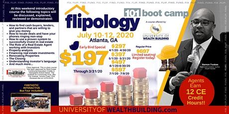 Flipology 101: The Boot Camp with Ramon Tookes - July 10-12, 2020 tickets