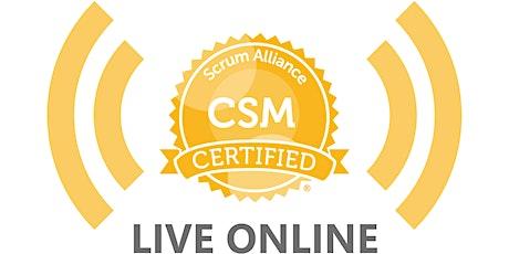 LIVE ONLINE |  Scrum Certification Scrum Master™ CSM™   |2 Days 13-14 April tickets
