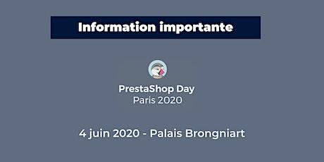 PrestaShop Day Paris 2020 tickets