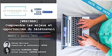 [WEBINAR] AfterWork RH Côte d'Azur - 7  avril 2020 - Le télétravail tickets