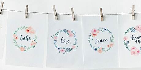 ADULT CRAFT WORKSHOP: Boho Botanical Watercolour Wreath for beginners Sep 5th tickets