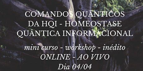 WORKSHOP ONLINE - AO VIVO de HQI - HOMEOSTASE QUÂNTICA INFORMACIONAL ingressos