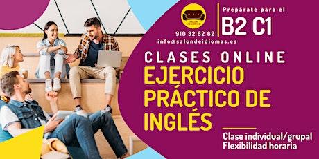 Ejercicio práctico de inglés - clases online entradas