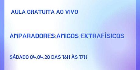 """Palestra Online Gratuita: """"Amparadores: Amigos Extrafísicos"""" ingressos"""