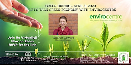 Green Drinks April on ZOOM - Let's Talk Green Economy with EnviroCentre tickets