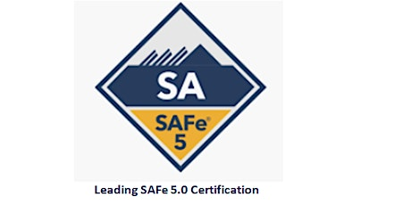 Leading SAFe 5.0 Certification 2 Days Virtual Live Training in Calgary tickets