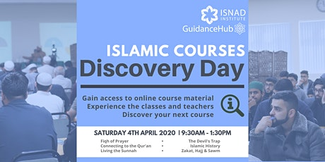 FREE Online Islamic Courses Discovery Day | Sat 4th Apr | 9:30am-1:30pm tickets