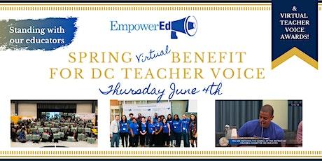 EmpowerEd's Virtual Benefit for DC Teacher Voice & Teacher Voice Awards! tickets