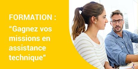 """Formation en ligne """"Comment gagner vos missions en assistance technique"""" - 09 avril 2020 - Formation en ligne billets"""