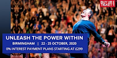 Tony Robbins UPW Birmingham 2020 - Book Tickets with Easy Payment Plans