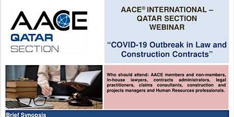 """AACEI - Webinar on """"COVID-19 Outbreak in Law and Construction Contracts"""" tickets"""
