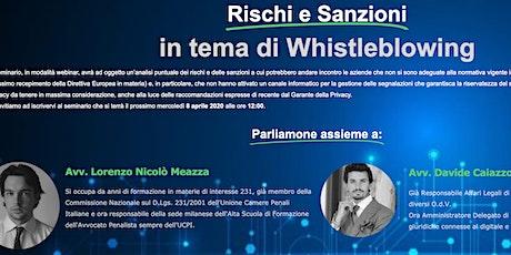 Webinar Rischi e Sanzioni in tema di Whistleblowing biglietti