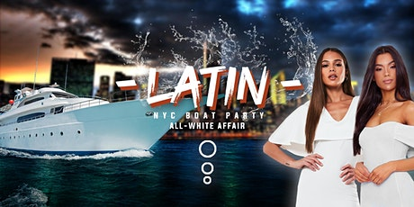 All White Latin Sunset Boat Party - Midtown Yacht Cruise NYC Skyline - Saturday Fiesta tickets