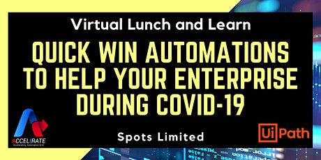 Virtual Lunch & Learn: Quick-Win Automations to help during COVID-19 tickets