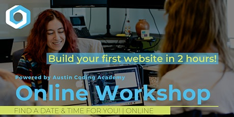 Circle Coding Academy | VIRTUAL Learn to Code Workshop tickets