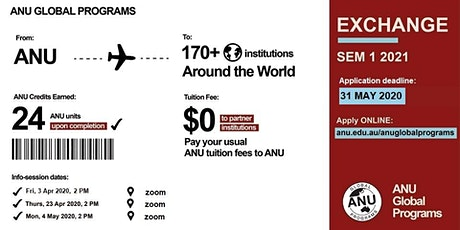 ONLINE: Exchange Info Session 1 -  S1 2021 tickets