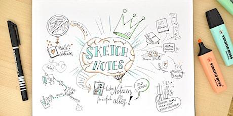 Sketch Notes - zeichnerische  Mitschriften für einfach alles - Wien - Okt. Tickets