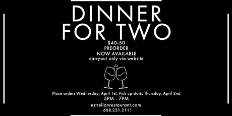Dinner for Two tickets