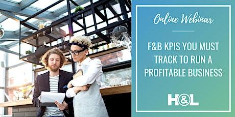 Online Webinar | F&B KPIs you must track to run a profitable business entradas