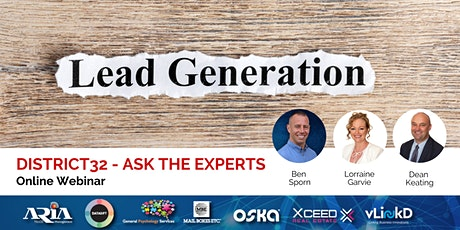 District32 Ask the Experts - Lead Generation - Thu 2nd Apr tickets