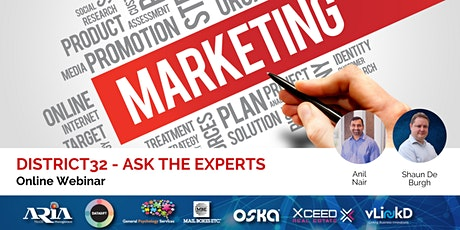 District32 Ask the Experts - Marketing - Thu 28th May tickets