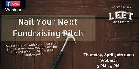 [Webinar] Nail Your Next Fundraising Pitch tickets