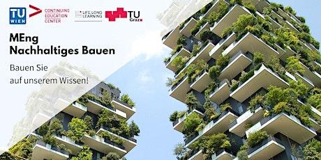 """Online Info-Session Universitätslehrgang """"Nachhaltiges Bauen"""" Tickets"""