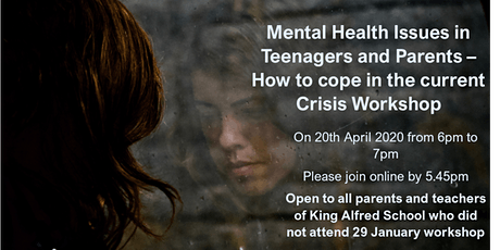 Mental Health in Teenagers and Adults - Coping during the current crisis tickets
