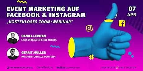 Eventmarketing auf Facebook & Instagram // Kostenloses Meetup tickets