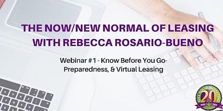 Know Before you Go- Preparedness and Virtual Leasing entradas