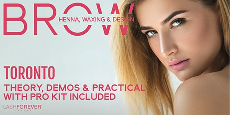 Brow Henna, Waxing & Design Training Course tickets
