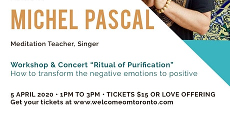 """Workshop & Concert """"Ritual of Purification"""" with Michel Pascal tickets"""