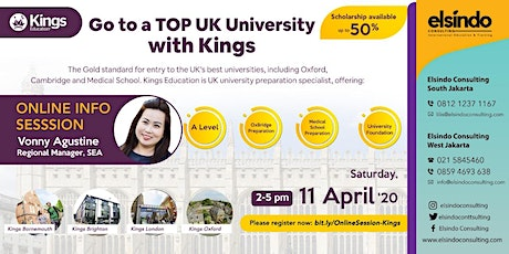 Go to a Top UK University with Kings Education tickets