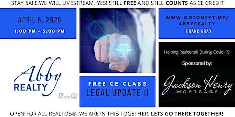 LEGAL II FREE CE CLASS tickets