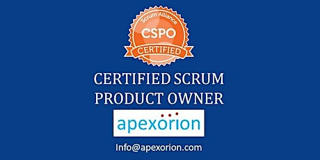 CSPO ONLINE (Certified Scrum Product Owner) - May 28-29, Dublin, CA tickets