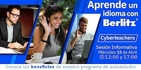 Sesión Online informativa Cyberteachers boletos