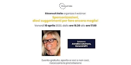 EUconsult Italia - webinar n.1 biglietti