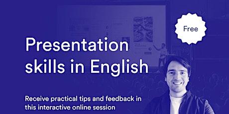 Presentation skills in English - interactive online event  tickets