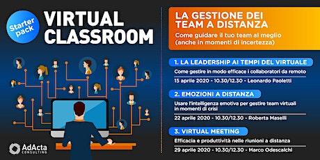[Virtual Classroom] La gestione dei team a distanza biglietti