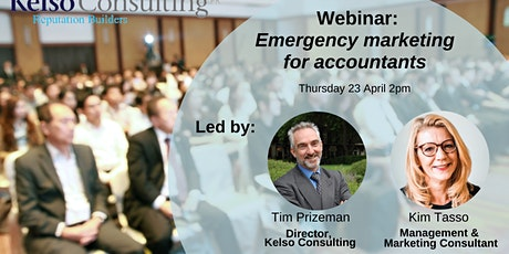 Emergency marketing for accountants: launching services during the crisis and recovery - April 2020 tickets
