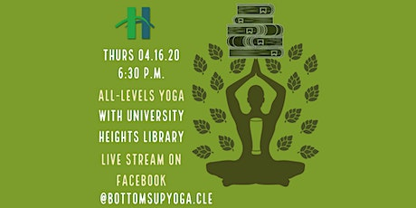Bottoms Up! Library Yoga Livestream - [Bottoms Up! Yoga & Brew] tickets