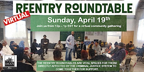 Virtual ReEntry Roundtable | April 19 tickets