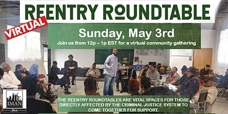 Virtual ReEntry Roundtable | May 3rd tickets