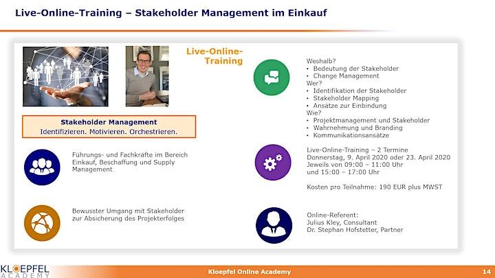 Stakeholder Management im Einkauf | Live-Online-Training: Bild