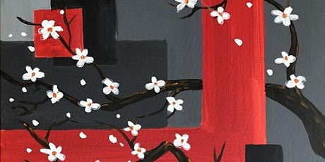 Live Online Paint and Sip Event 'Modern Blossom' tickets