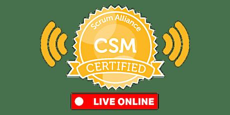 LIVE-ONLINE | Certified ScrumMaster® (CSM) tickets